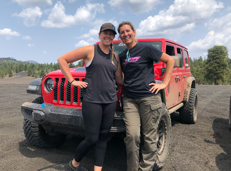 One of three The Rebelle Rally Jeep factory teams, 4xeVenture, consists of Nena Barlow (right) and Teralin Petereit (left). // Courtesy Jeep