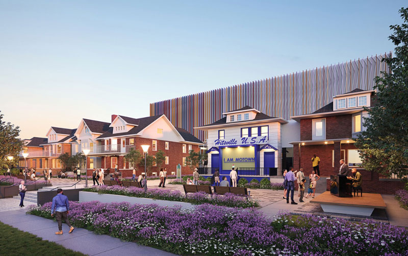 Phase Two of the Motown Museum expansion project has begun. // Rendering courtesy of Motown Museum