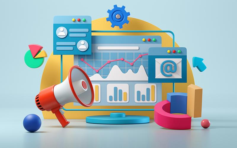 marketing animation concept